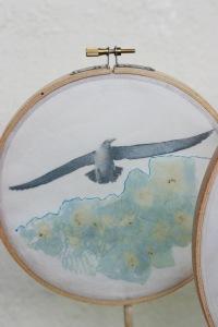 bird in flight flower detail